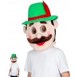 Déguisement tête de mascotte de bavarois