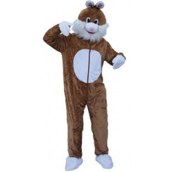 Mascotte de lapin marron