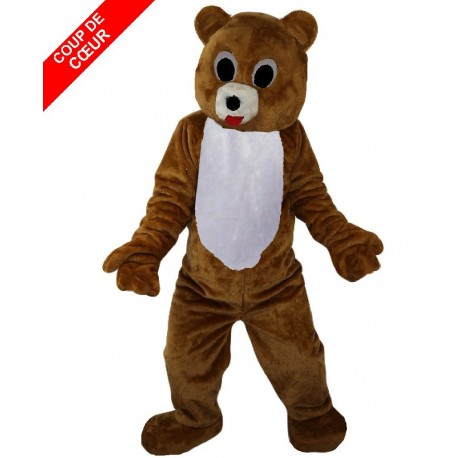 Mascotte ours brun