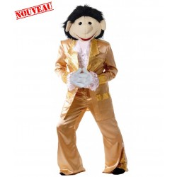 Mascotte chanteur disco