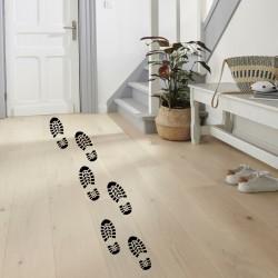 Empreintes pieds Père Noël