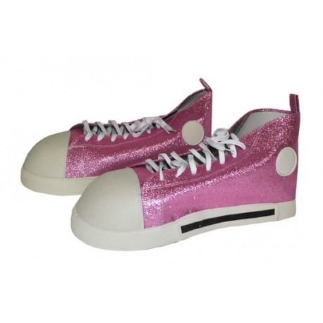 chaussure de clown géante rose