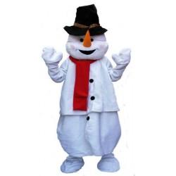 Mascotte de Bonhomme de neige boule