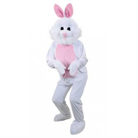 mascotte de lapin Blanc