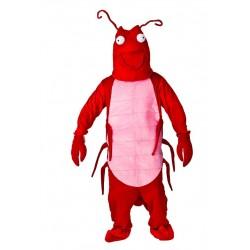 mascotte de crevette langouste